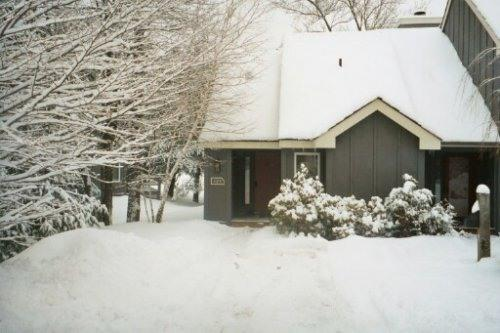 our house in the winter