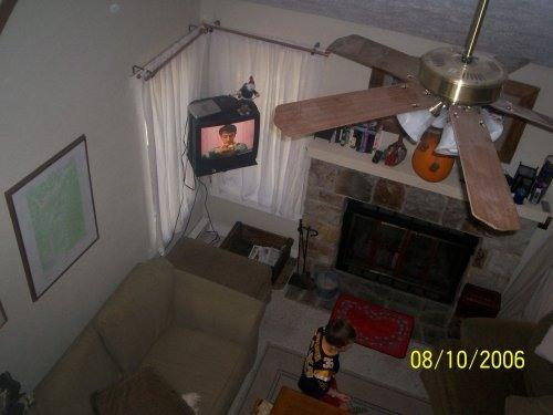 looking down from loft area