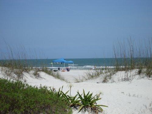 beach level view