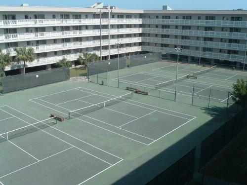Four of the Six Tennis Courts