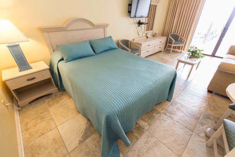 The Queen Bed in Living Room