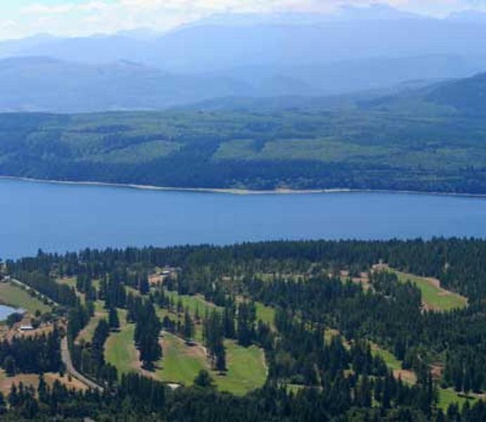 Vista aerea del campo da golf Discovery Bay