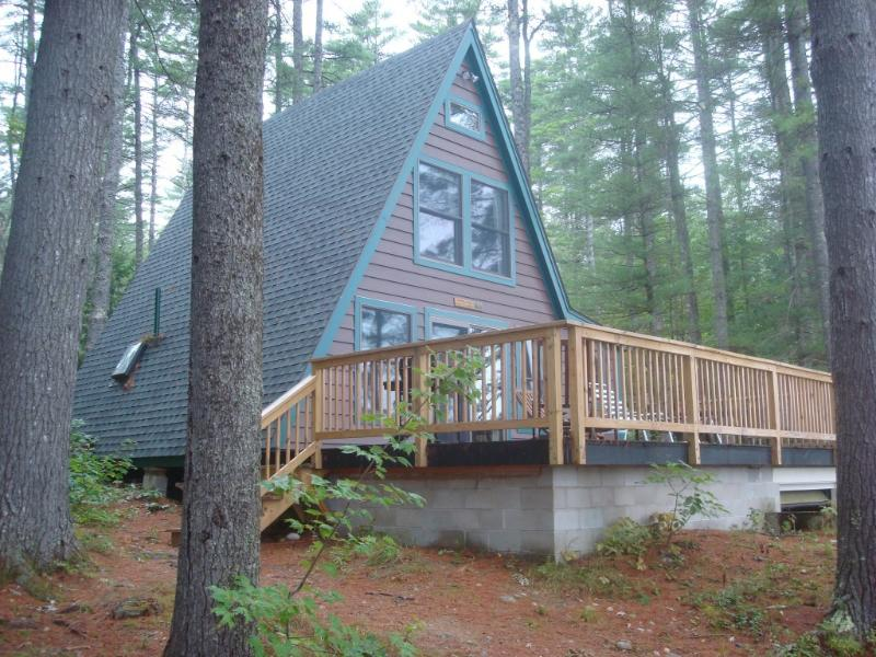 Our A-Frame is secluded and serene just right for families to re-connect.  The lake has lots of fish