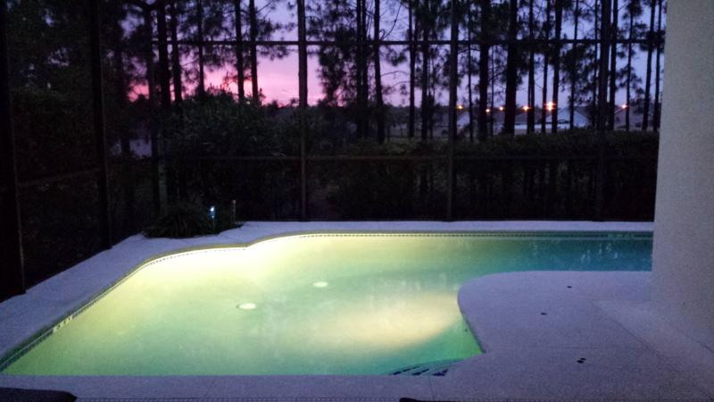 PRIVATE POOL AND SPA AT SUNSET