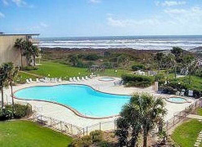 View from condo of ocean+oceanfront pool,KIDDY POOL+OUTDOOR JACUZZI