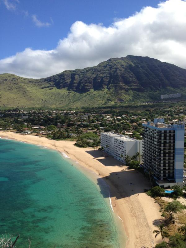 View of Hawaiian Princess and Beach from Nearby Hill.