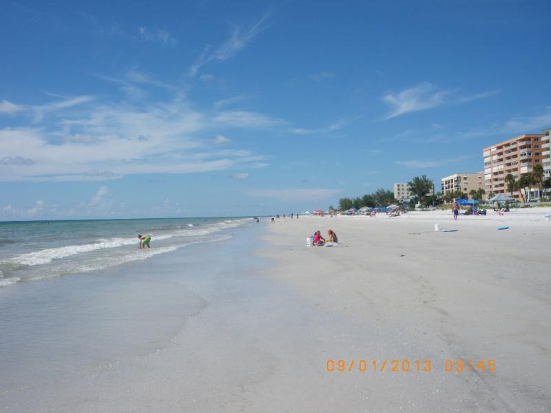 White sand beach with private access