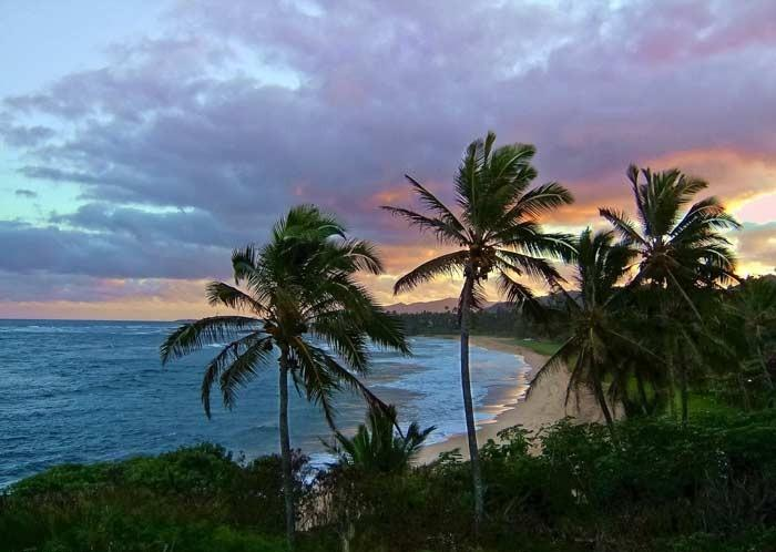 View of Sunset from the lanai