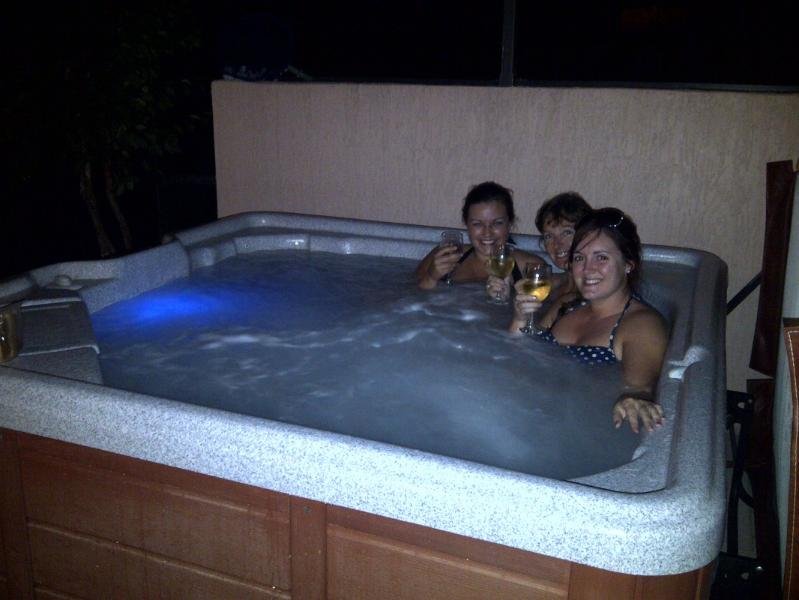 Lovely hot tub to help you relax.