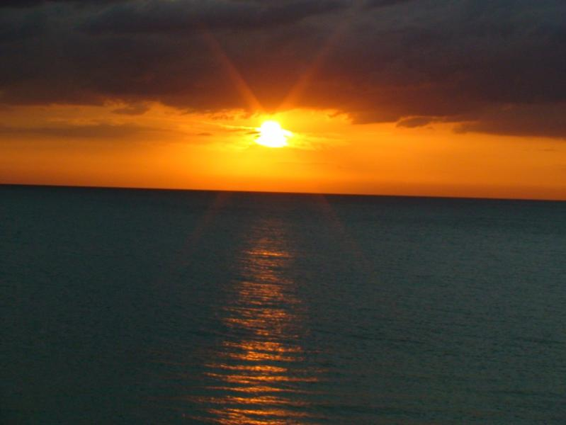 Beautiful sunset right from your balcony