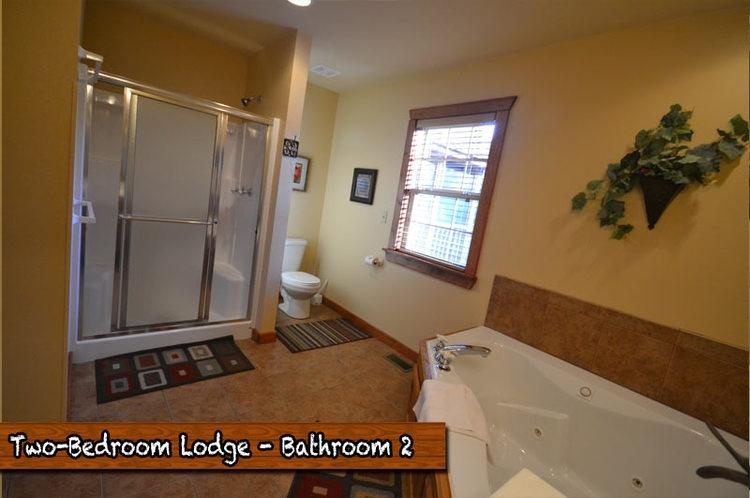 Each bathroom features large jacuzzi tub and roomy separate shower.
