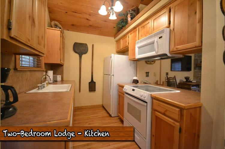 Fully outfitted kitchen has everything you will need.