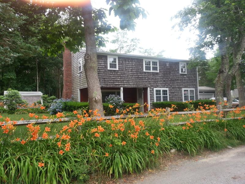 Front of house with front porch and street side day lily\\\\\\\\\\\\\\\'s