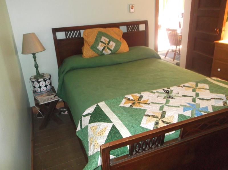 First floor bedroom with double bed.