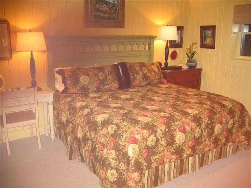 Master bedroom offers king bed