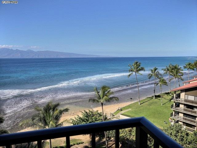 View off living room lanai, Molokai in background while you watch for whales.