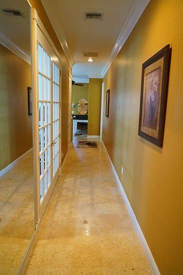 Hallway from Master bedroom to master bath
