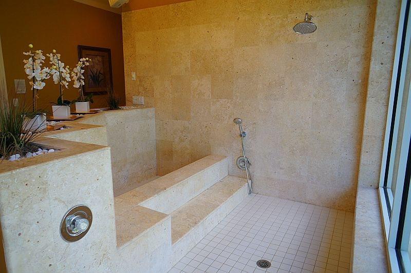 Master bath, show and tub