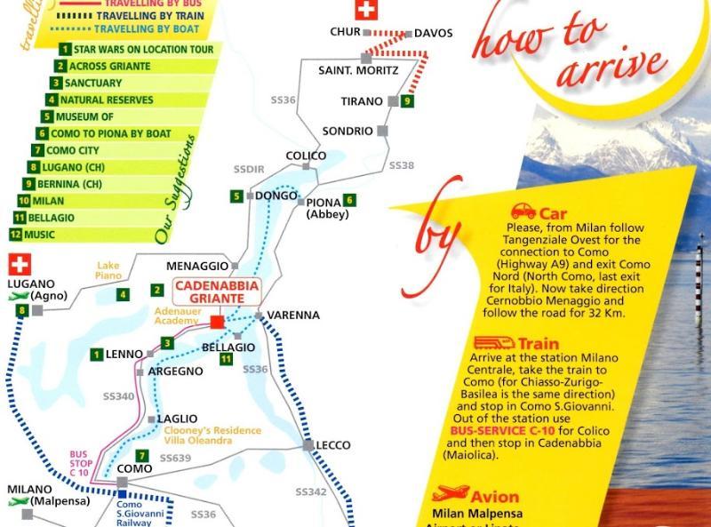 Lake Como Map and Griante location.