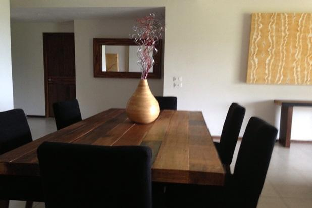 dining table in split apartment