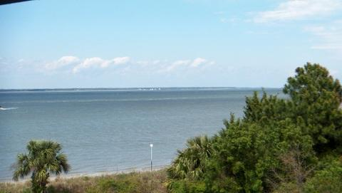 This photo was taken from the deck of Whispering Palms.