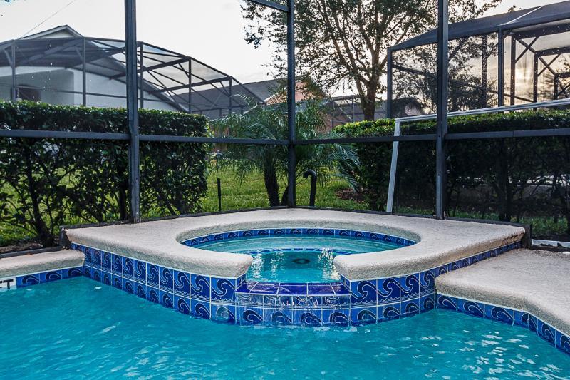 South-facing pool & spa