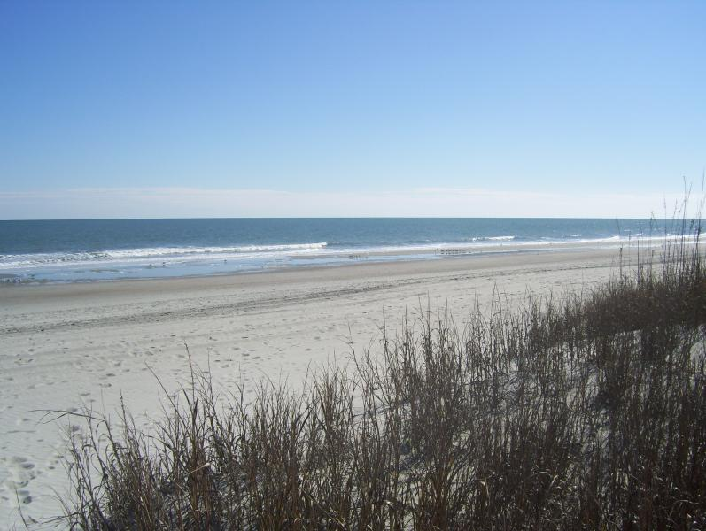 The beautiful Grand Strand section of the beach in front of The Anchorage