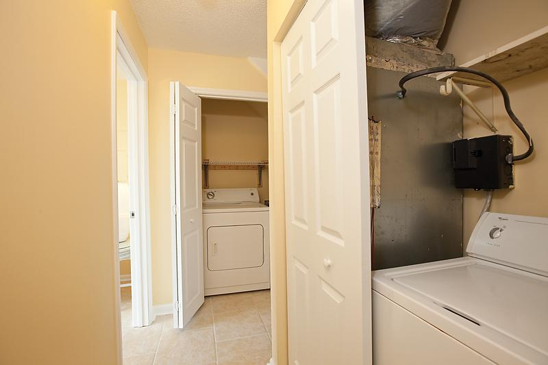 Full size washer and dryer located in the unit for your convenience
