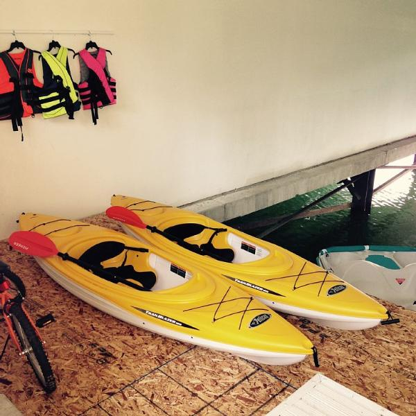 2 Brand New Kayaks, Life Jackets, Peddle-Boat, and Bikes Included!