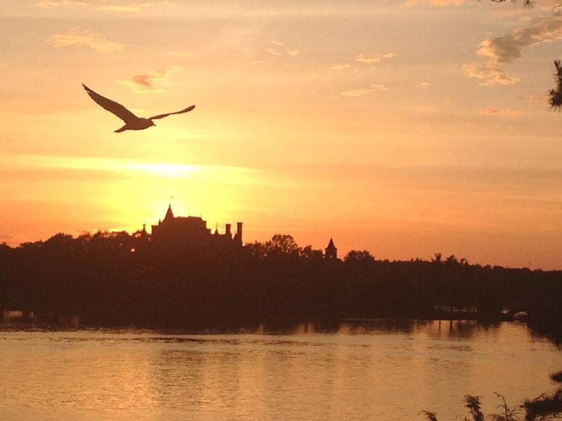 Sunset View of Boldt Castle