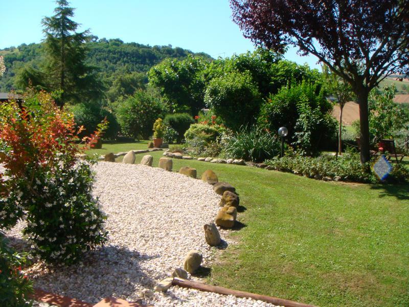 Landscaped gardens at Villa Miramonti