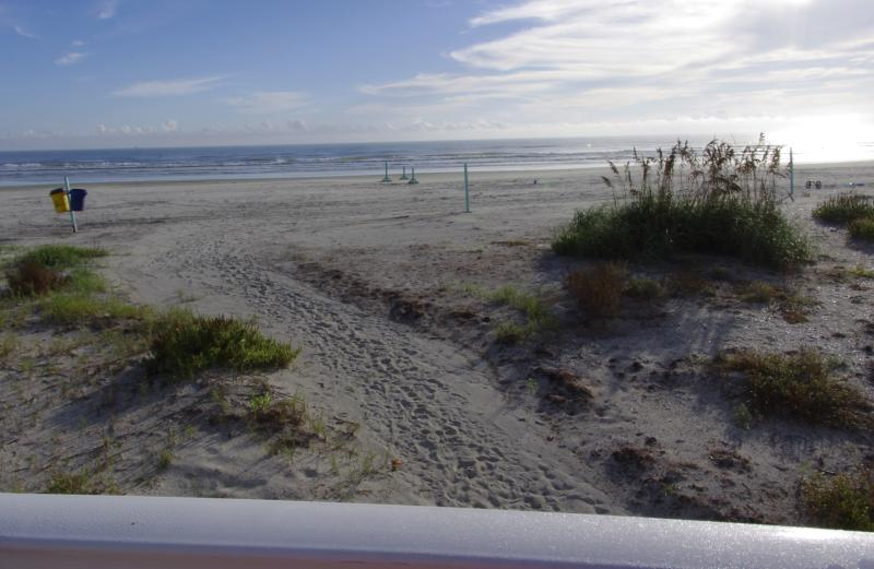 Beautiful walk way from Condo to the white sand beach and Atlantic Ocean.