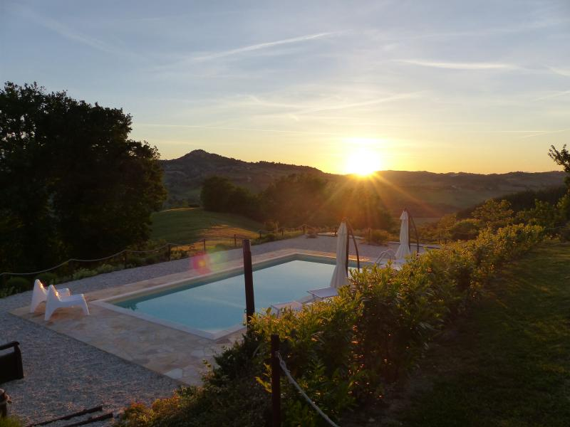 Sunset at our lovely pool