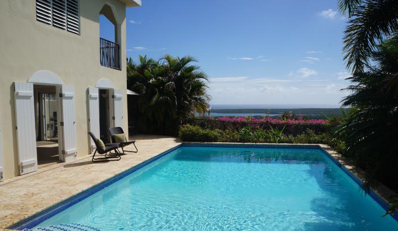 Private pool overlooks breathtaking Caribbean views