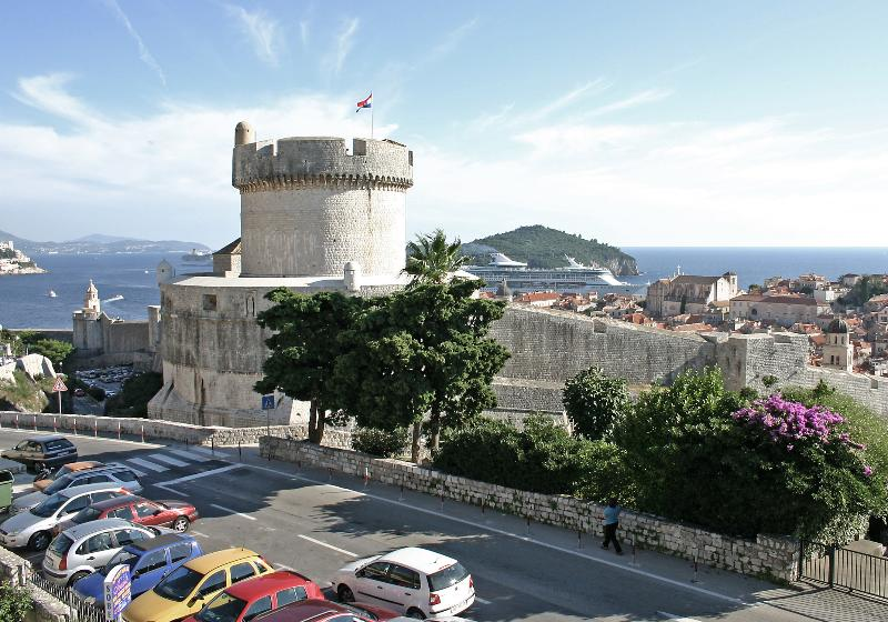 Sunny view from the living room window of Apartment Olga, near Old City of Dubrovnik