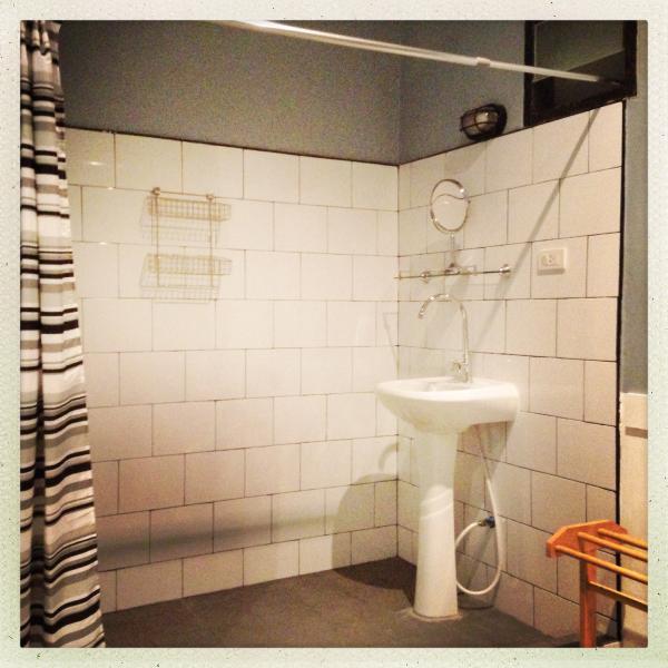 Shower room with hot shower ensuite in bedroom 1.