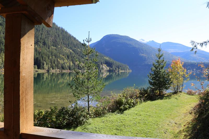 Fabulous view of Monashee Mountains and Three Valley Lake
