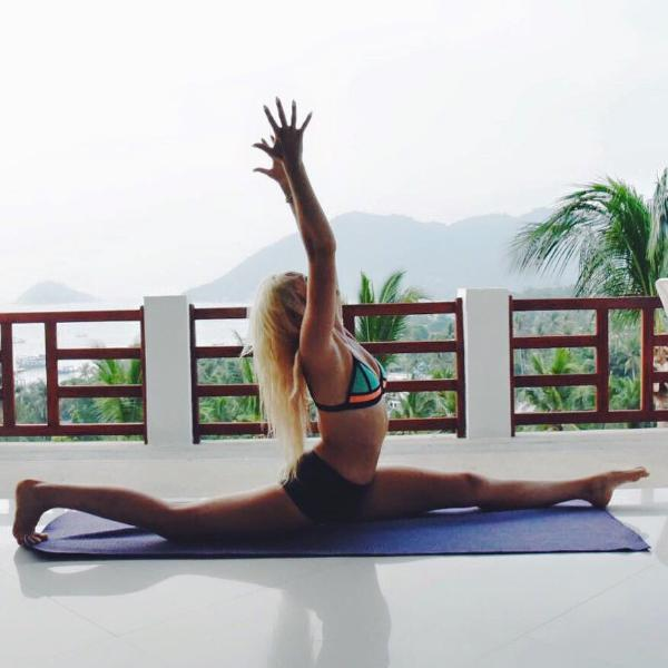 Yoga position from Penthouse