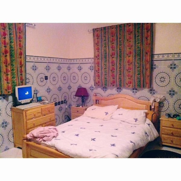 bedroom includes: - Double bed - Wardrobe - Dressing table/mirror - Large personal space