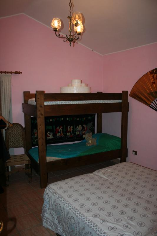 Second room-bunk beds