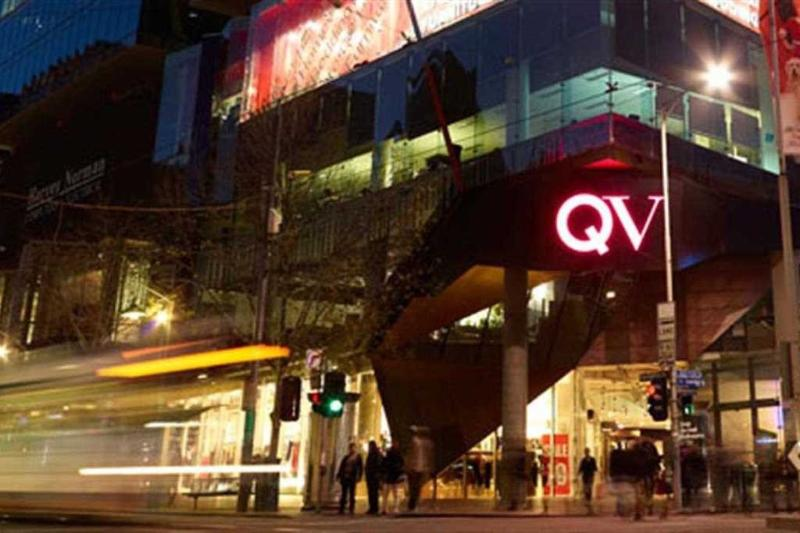 A stone's throw away from QV Melbourne.