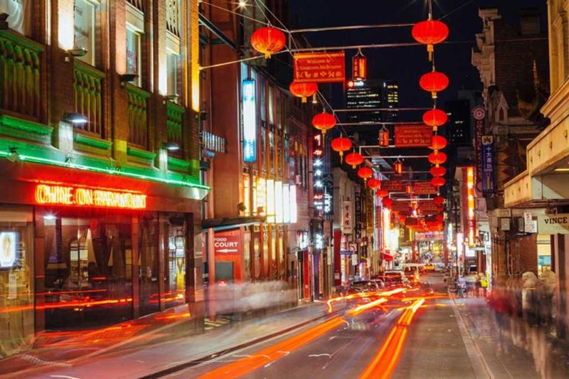 Chinatown is only a block away.