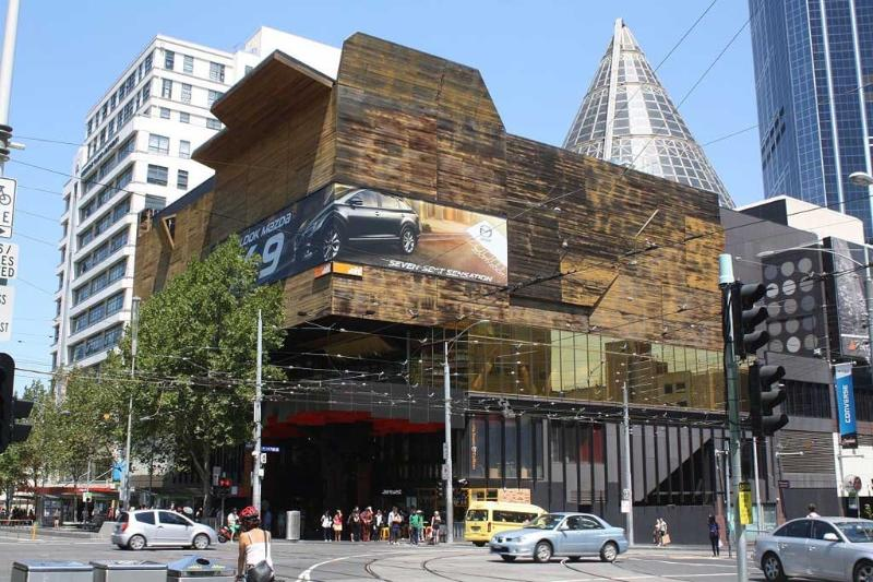 Located near Melbourne Central train station.