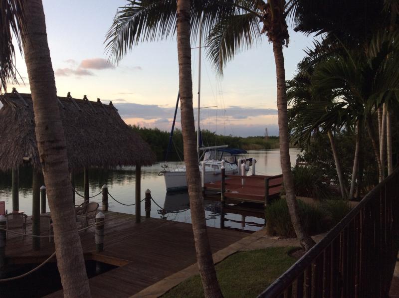 sunset dockside