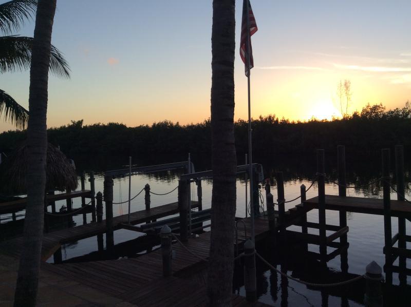 Taken from dock at sunset