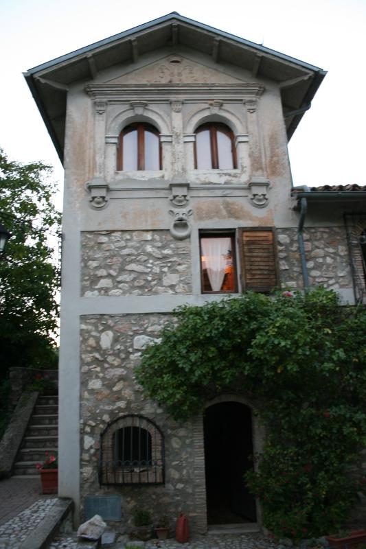 The tower with the stucco