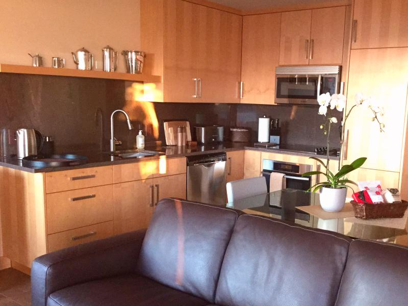 Your fully equipped kitchen complete with Canadian Maple cabinetry.