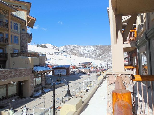 view of Canyons village and gondola base, from one of the rooms