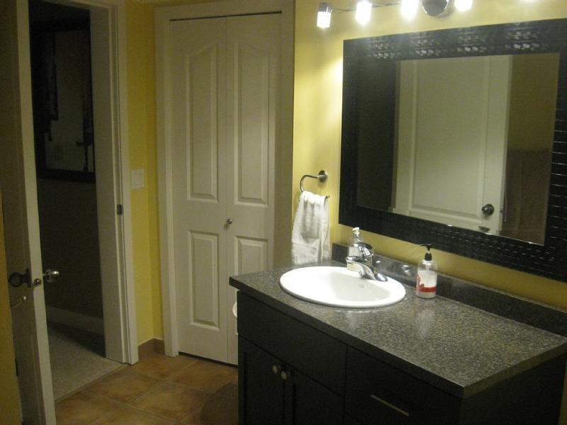 Bathroom with 3 Drawer Vanity & Linen Closet