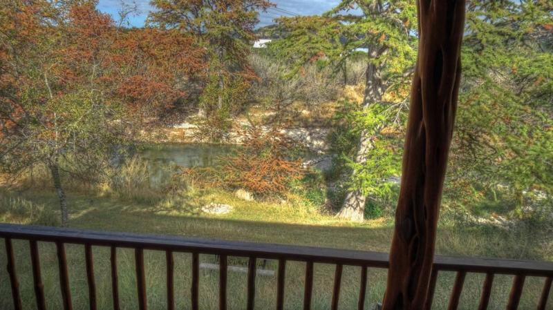FRIO RIVER FROM BACK PORCH
